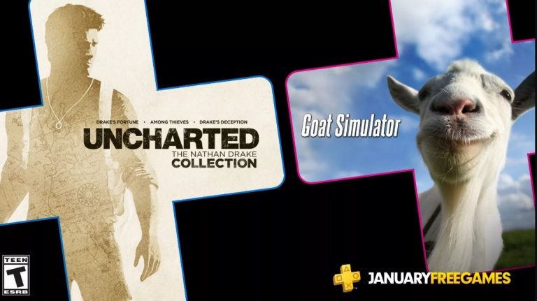 PS Plus 2020: Janeiro virá com Uncharted: The Nathan Drake Collection e Goat Simulator