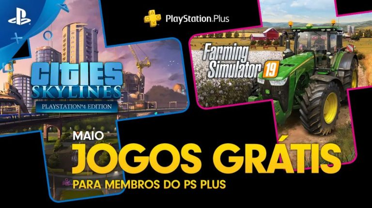 PS Plus 2020 Maio virá com Cities Skylines e Farming Simulator 19