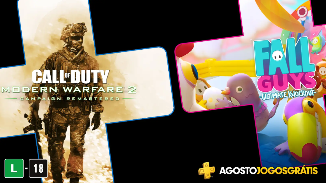 PS Plus 2020 Agosto virá com Fall Guys Ultimate Knockout e Call of Duty Modern Warfare 2 Campaign Remastered