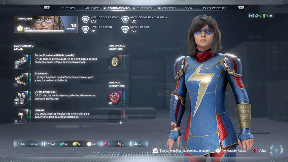 marvel's avengers analise critica review equipamentos