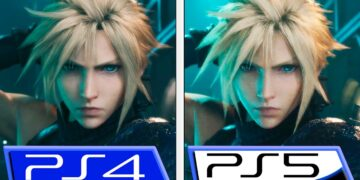vídeo comparativo trailer final fantasy vii remake ps4 ps5